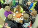 Family Camping weekend -Enjoying hot chocolate
