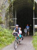 Railway path tunnel