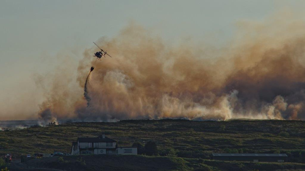 Moorland fire above Darwin