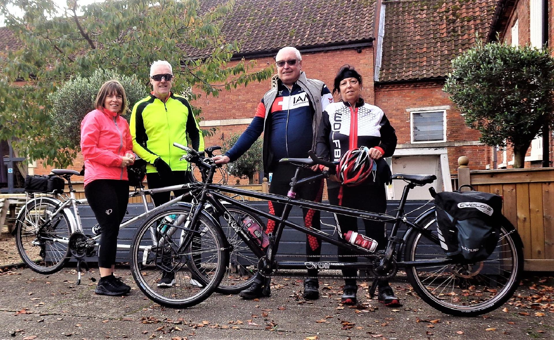 The Inaugural Ride of the Humberside region, stop for a coffee at Elsham Hall