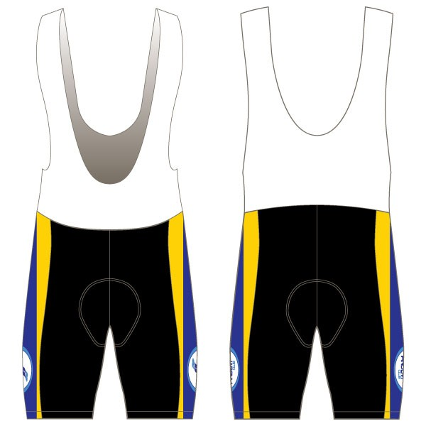 side panelled bib shorts