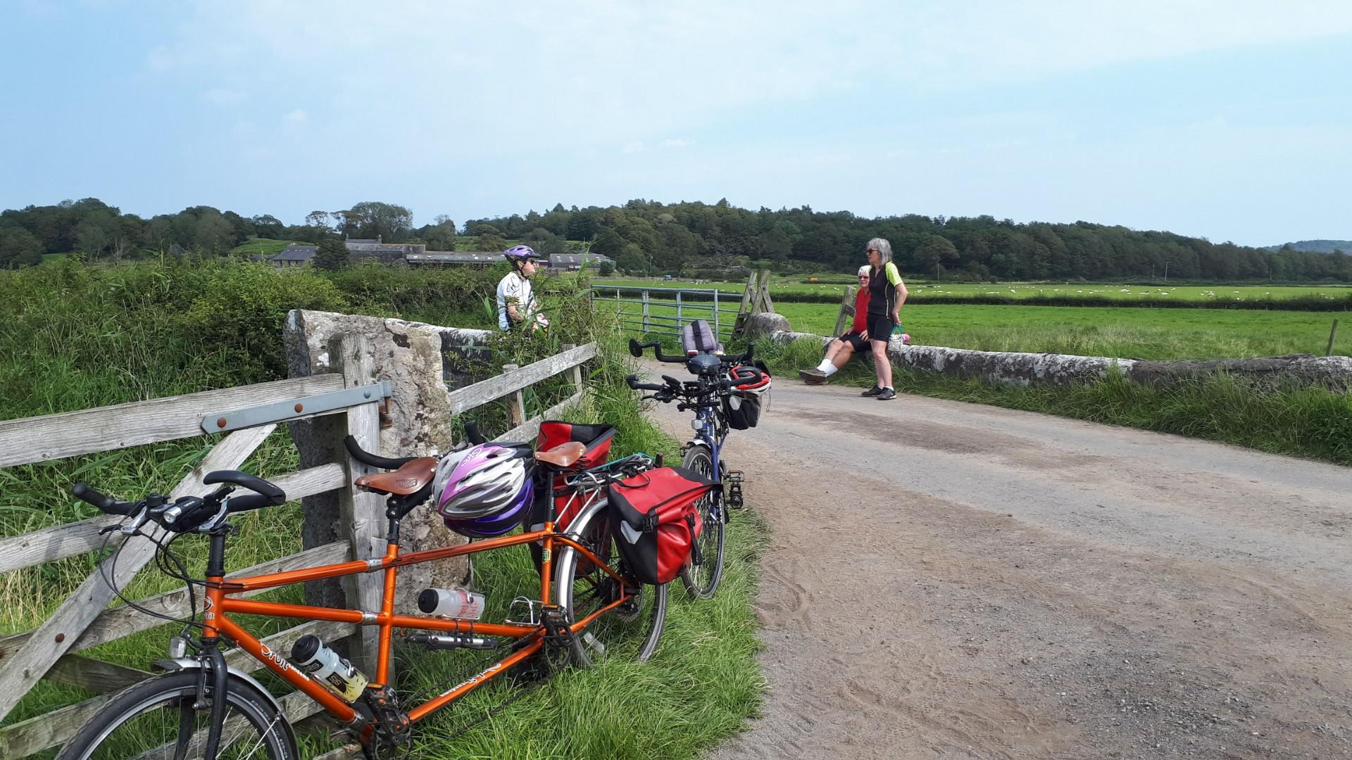 Cumbria Team - Lunch stop on Meathop Marsh