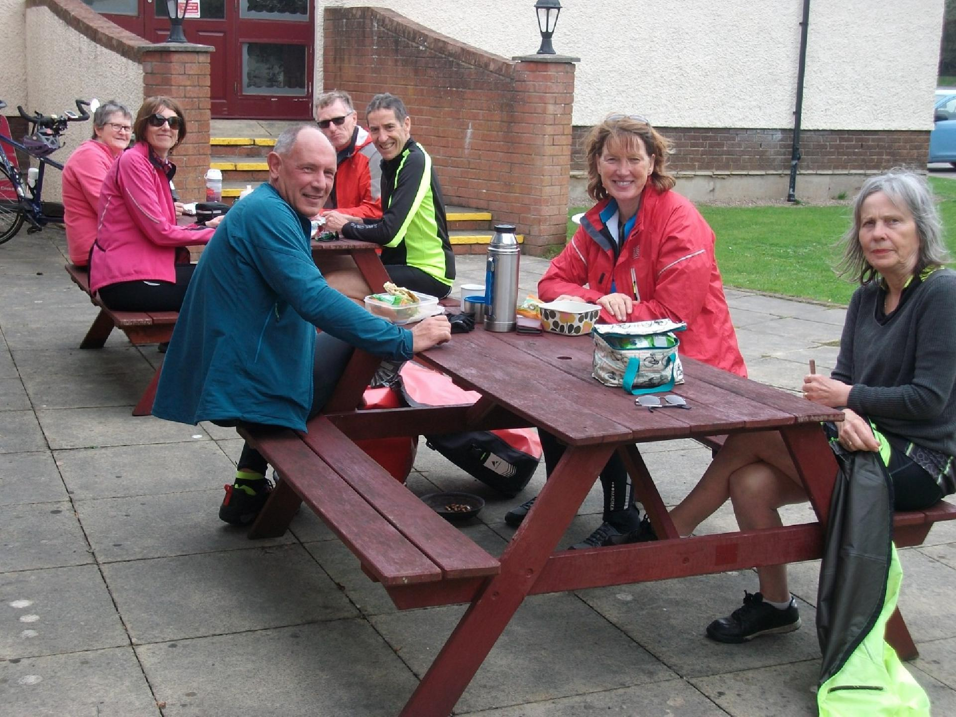 Enjoying a picnic lunch at Carnforth Truckhaven